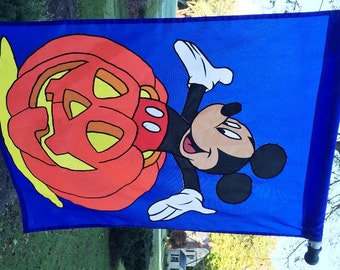 Vintage Mickey Mouse Halloween Banner