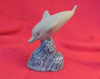 Miniature Dolphin Diving in a Wave