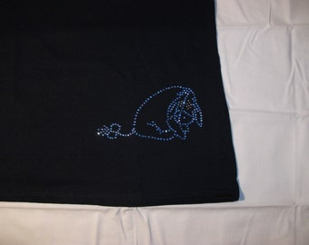 Eeyore Rhinestone Design  Get it on a Top of your choice and were you would like it to be placed.