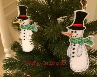 NNC ITH Christmas Snowman for the 4x4 hoop - pes, jef, exp, hus, vip, vp3, dst, xxx