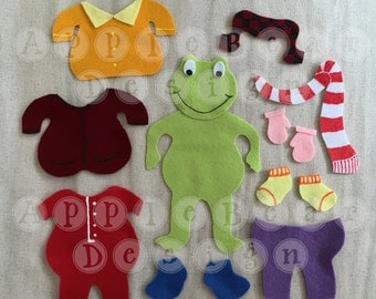Felt Board Story Set: Froggy Gets Dressed