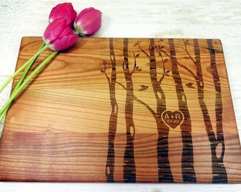 Handmade Personalized Cutting Board. Couple Cutting Board. Lazer Engraved. gift for wedding. Engagement gift. Choping block. Custom engraved