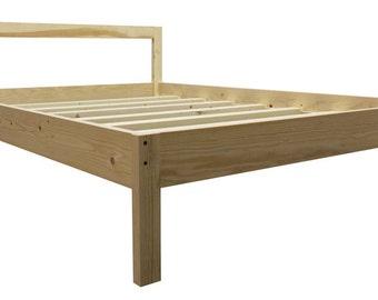 Platform Bed Frame [UNO] All Natural Solid Hardwood