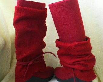 felt boots.handmade boots paboty soles