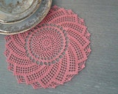 modèle napperon crochet spirale rose