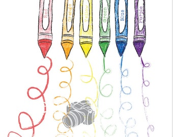 7ft.x7ft  Crayons Back To School Backdrop - Vinyl Photography Backdrop