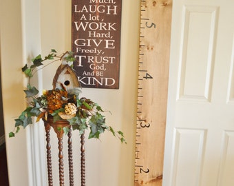 Hand crafted wooden growth charts