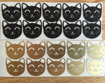 Lucky Kitty Cat Stickers