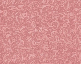 Lost and Found,Mirabelle Curiosities, Rose Scroll Santoro cotton fabric
