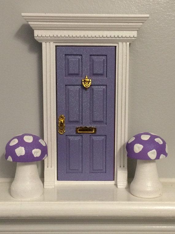 Handmade magical purple fairy door by 15monkeys on etsy for Purple fairy door