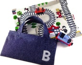Bag Only. Mly Toy playmat storage BAG. perfect for you MYL toys. train road car play mat tote. travel pocket personalised carrier. CE marked
