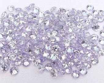 500pcs.Wholesale Lavender Cubic zirconia CZ Round cut 1.70mm. loose gemstones.