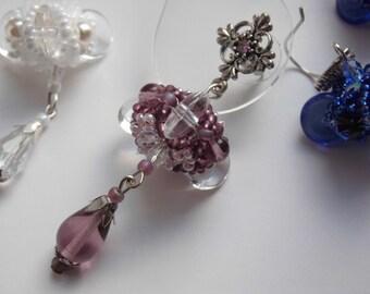 Elegant evening beaded earrings.