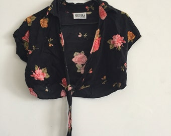 90's Two Piece floral set