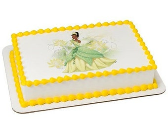 Princess Tiana Edible Cake or Cupcake Toppers - Choose Your Size