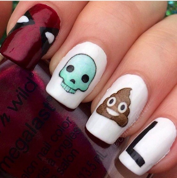 Emoji Nail Art Step By Step: Emoji nail art how to popsugar beauty ...