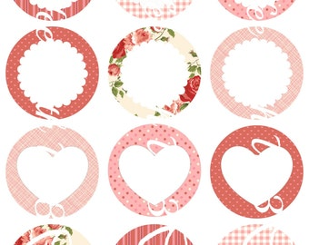 Valentines Day Canning Jar Labels
