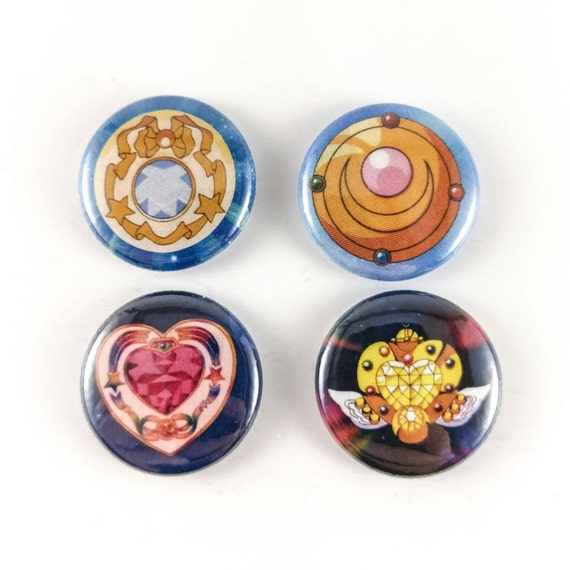 Sailor Moon Transformation Brooch Buttons Or Magnets Four