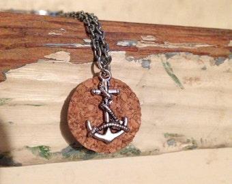 Cork Anchor Necklace