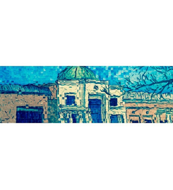 "Montgomery, Alabama - Montgomery Museum of Fine Arts - Architectural Art: 12""x36"" Original Painting"