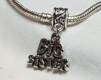 Big Sister Dangle Charm / Spacer - Nice Charm -Fits all Designer and European Charm Bracelets*
