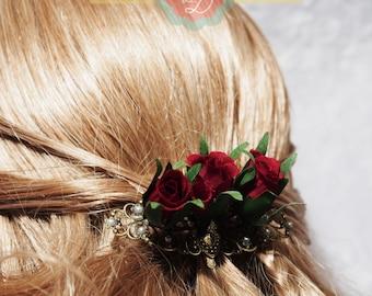 Rosebud Hair clip
