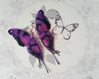 Magical Purple Double-Winged Earrings