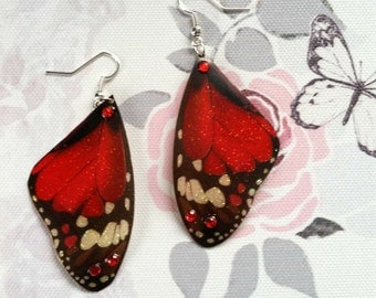 Magical Red Wing Earrings