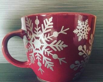 Snowflakes Mug // Christmas Mug // Winter Mug // Snowflakes // Let It Snow Mug