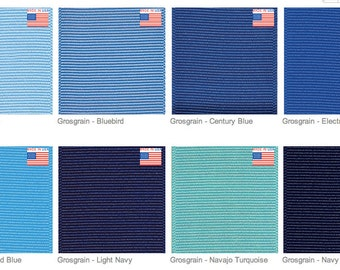 """1.5"""" BLUE GROSGRAIN Ribbon - Select Shade of Blue Ribbon - Offray - Made in USA"""