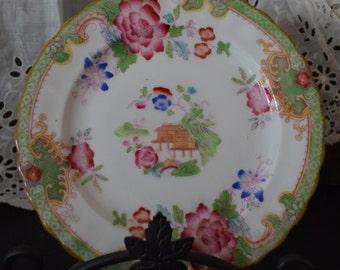 Royal Doulton Temple Green Scalloped Edge Dessert Plate E2689