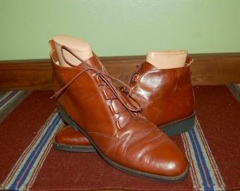 Women Size 10 Vintage Bandolino Genuine Leather Italian Ankle Boots
