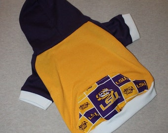 LSU Tigers Dog Hoodie / Personalization Available!