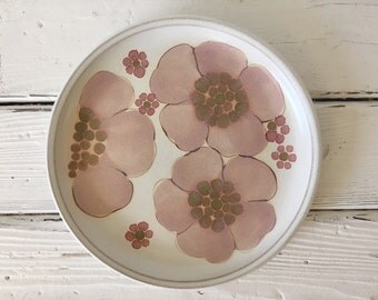Vintage Denby of England Stoneware Plate in Gypsy (Floral)