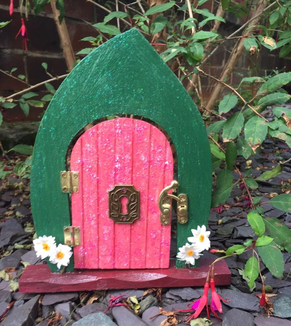 Wooden fairy door decorated or plain for you to customise for Wooden fairy doors to decorate