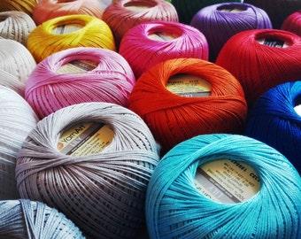 crochet cotton thread size 10, 50g x 225m, 3ply, mercerized cotton yarn #10