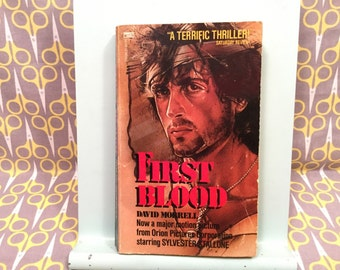 First Blood by David Morrell John Rambo Movie Novel Sylvester Stallone vintage paperback book novelization