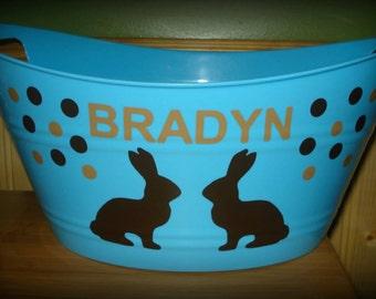 Easter, Easter Basket, Easter Bunny, Personalized Easter Basket, Personalized Easter Bucket, Easter Eggs, Easter decoration, Easter decor