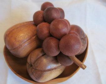 FREE SHIPPING --Vintage Wood // Fruit Bowl