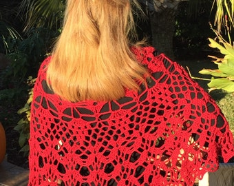 Crochet Lace Poncho and Skirt