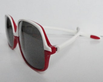 Hugo Boss Vintage Sunglasses // Red And White
