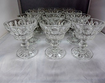 """SALE! Org 95.00 Vintage Set of 9 Clear Sherry /Wine Glasses """"Sterling Crystal Classique"""" 3 X 4""""H Excellent!"""