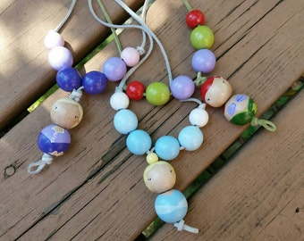 Chunky Bead Hand Painted Princess Necklace