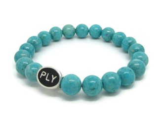 Plymouth, PLY, Plymouth Gifts, Plymouth Jewelry, Plymouth Bracelet, PLY Bead, Turquoise Riverstone