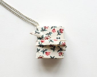 Mini Floral Notebook Necklace