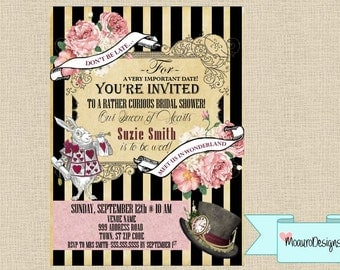 Wonderland Shower Invitation