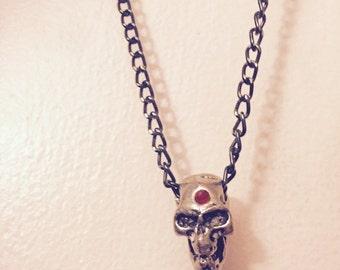 Rock n' Roll Skull necklace