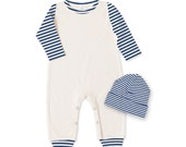 Newborn Boy Take Home Outfit, Baby Boy Romper and Hat, Newborn Boy Outfit, Baby Boy Clothes, TesaBabe, Tesa Babe