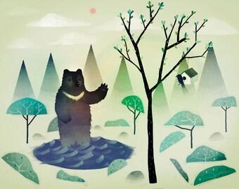 Un ours à collier