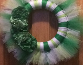 St. Patricks Day Tulle Wreath